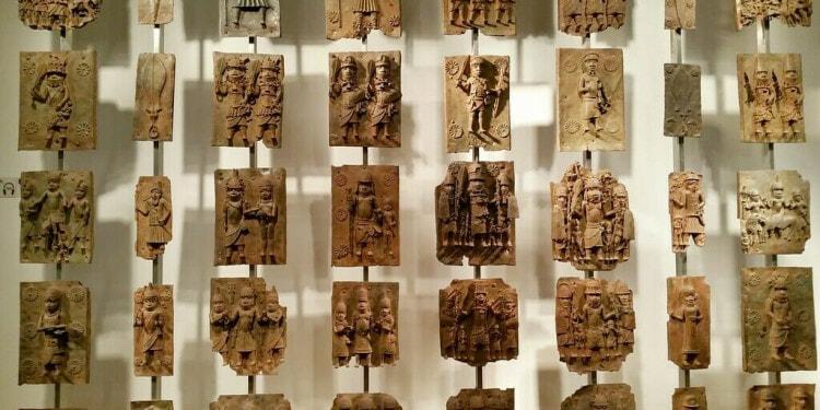 Benin Bronzes in museum