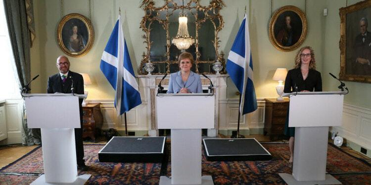Scotland's Nicola Sturgeon and green ministers