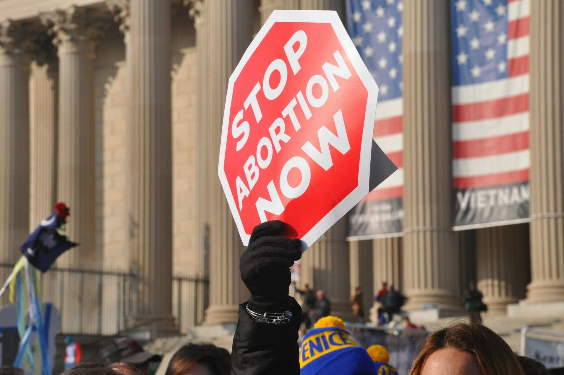 Pro-life, anti-abortion protester