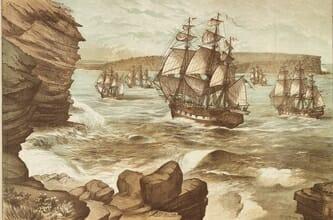 colonial ship to Australia